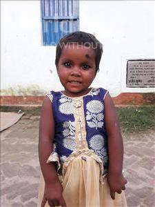Choose a child to sponsor, like this little girl from Vaishali, Saloni age 3
