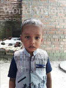 Rishav, aged 3, from India, is hoping for a World Vision sponsor