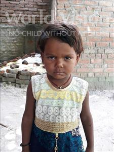 Choose a child to sponsor, like this little girl from Vaishali, Manisha age 3