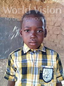 Choose a child to sponsor, like this little boy from Sirba, Houzeifou age 7