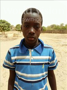 Choose a child to sponsor, like this little boy from Mbella, Mambodji age 13