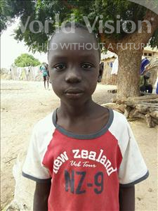 Choose a child to sponsor, like this little boy from Mbella, Samba age 11