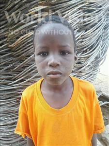 Choose a child to sponsor, like this little boy from Mbella, Abou age 7