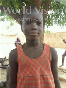 Choose a child to sponsor, like this little girl from Mbella, Khady age 8