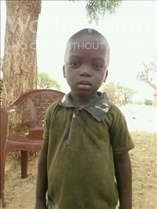 Choose a child to sponsor, like this little boy from Mbella, Barra age 3