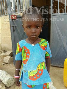 Choose a child to sponsor, like this little girl from Mbella, Codou age 3