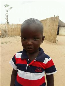 Choose a child to sponsor, like this little boy from Mbella, Baba Car Mbaye age 3