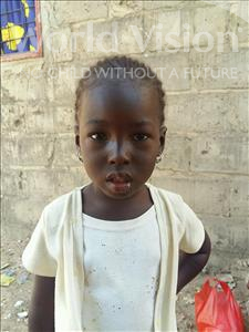 Choose a child to sponsor, like this little girl from Mbella, Mbissine age 2