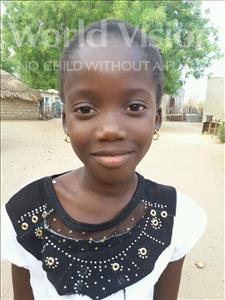 Choose a child to sponsor, like this little girl from Loul, Angelique Mane age 10