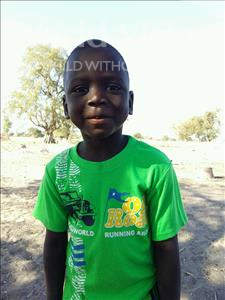 Choose a child to sponsor, like this little boy from Loul, Boure age 5