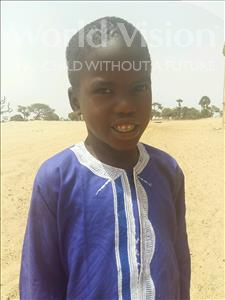 Babou Ngor, aged 7, from Senegal, is hoping for a World Vision sponsor