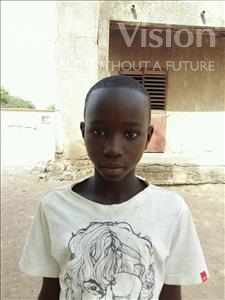 Choose a child to sponsor, like this little boy from Loul, Antoine Modou age 12
