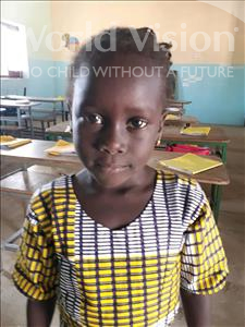 Choose a child to sponsor, like this little girl from Loul, Marie Noel Awa age 6