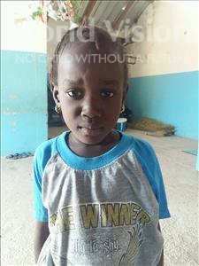 Choose a child to sponsor, like this little girl from Loul, Monique age 6