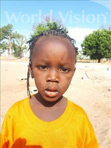 Choose a child to sponsor, like this little girl from Loul, Khamadjiguene Marie Ther age 4