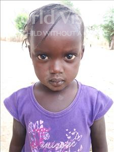 Choose a child to sponsor, like this little girl from Loul, Diouma age 3