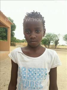 Choose a child to sponsor, like this little girl from Loul, Sophie Sambatew age 9