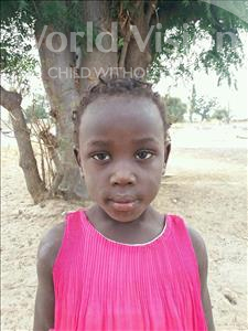 Choose a child to sponsor, like this little girl from Loul, Agnes Coumba age 5