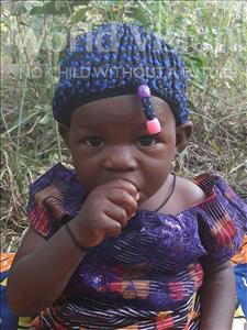 Choose a child to sponsor, like this little girl from Jong, Safiatu age 1