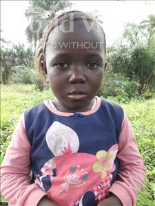 Choose a child to sponsor, like this little girl from Tegloma, Safiatu age 5