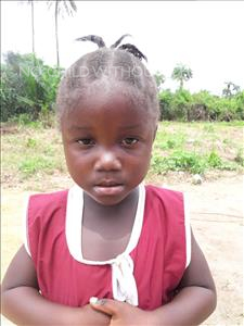 Choose a child to sponsor, like this little girl from Tegloma, Aminata age 4