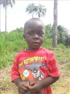 Choose a child to sponsor, like this little boy from Tegloma, Mohamed Bockarie age 3