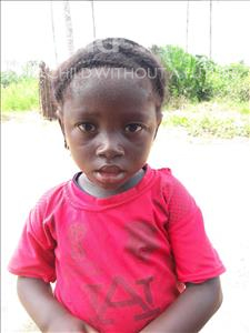 Choose a child to sponsor, like this little girl from Tegloma, Fatmata age 3