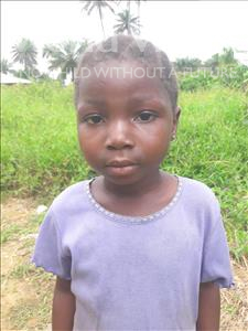 Choose a child to sponsor, like this little girl from Tegloma, Masaray age 6