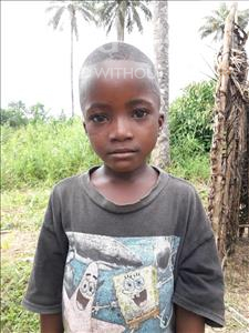 Choose a child to sponsor, like this little boy from Tegloma, Jusu age 8
