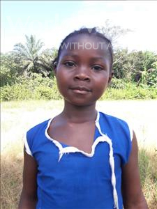 Choose a child to sponsor, like this little girl from Tegloma, Fatmata age 7