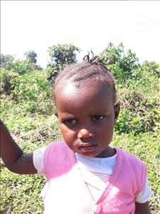 Choose a child to sponsor, like this little girl from Tegloma, Aminata age 2