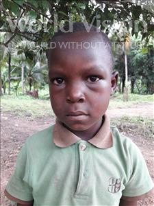 Choose a child to sponsor, like this little boy from Jaiama Bongor, Henry age 6