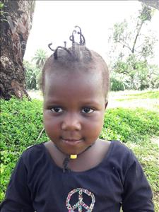 Choose a child to sponsor, like this little girl from Jaiama Bongor, Jenneh age 4