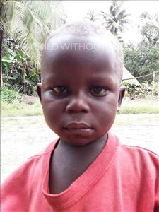 Choose a child to sponsor, like this little boy from Jaiama Bongor, Saffa age 3