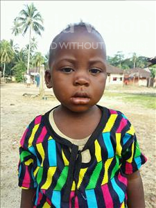 Choose a child to sponsor, like this little Girl from Jaiama Bongor, Mamie Foday age 2