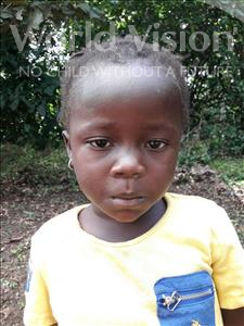 Choose a child to sponsor, like this little girl from Jaiama Bongor, Salaimatu age 5