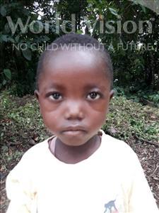 Choose a child to sponsor, like this little boy from Jaiama Bongor, Mambu age 3