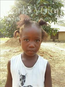 Choose a child to sponsor, like this little girl from Jaiama Bongor, Magret age 5