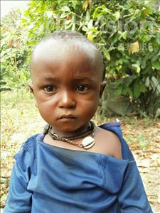 Choose a child to sponsor, like this little boy from Jaiama Bongor, Musa age 2