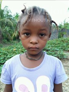 Choose a child to sponsor, like this little girl from Jaiama Bongor, Isata age 5