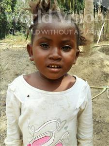 Choose a child to sponsor, like this little girl from Jaiama Bongor, Mamusu age 3