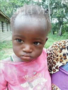 Choose a child to sponsor, like this little girl from Jaiama Bongor, Hannah age 1