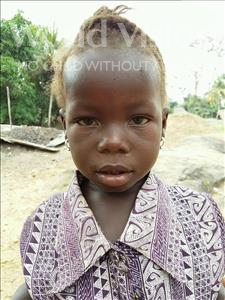 Choose a child to sponsor, like this little girl from Jaiama Bongor, Mamie age 3