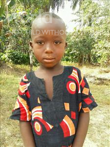 Choose a child to sponsor, like this little boy from Jaiama Bongor, Abdul age 5