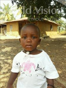 Choose a child to sponsor, like this little boy from Jaiama Bongor, Alieu age 1