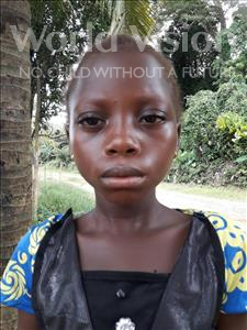 Choose a child to sponsor, like this little girl from Jaiama Bongor, Kadie age 7