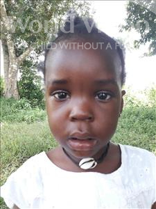 Choose a child to sponsor, like this little girl from Jaiama Bongor, Bintu age 3