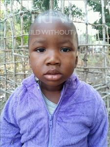 Choose a child to sponsor, like this little boy from Jaiama Bongor, Amara age 3