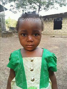 Choose a child to sponsor, like this little girl from Jaiama Bongor, Isia age 3