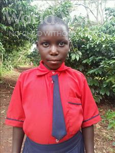 Choose a child to sponsor, like this little girl from Kibiga-Mulagi, Regina age 9